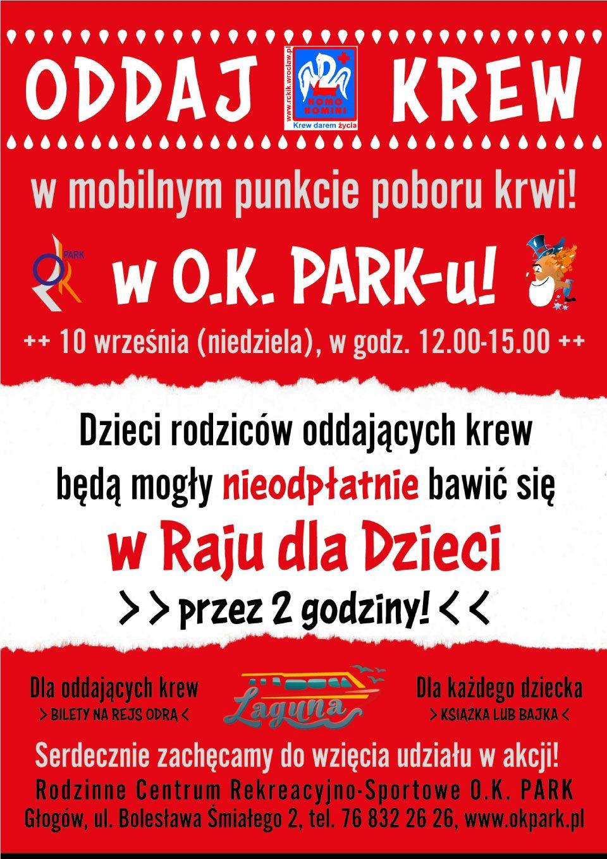 TutajGLOGOW.pl Krwiodawstwo w Głogowie Pilnie potrzeba krwi plakat